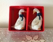 Porcelain Geese Ornaments for Holiday Cheer