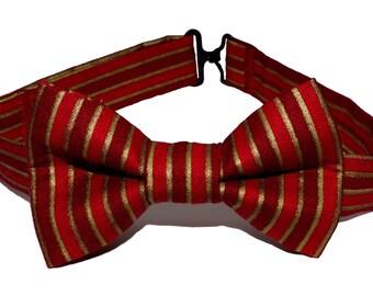 Bow Tie - Red Striped Bowtie