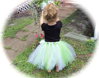 Pageant Boutique custom made Toddler girls 2pc neon green and white zebra stripe Tutu set with matching hairbow size 2T 3T 4T