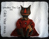 SMEDLEE the cat & fall pumpkin primitive doll pattern click your heels