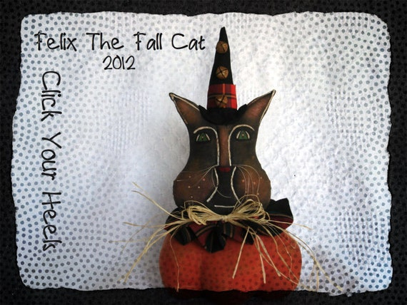Felix The Fall Cat Primitive Pattern