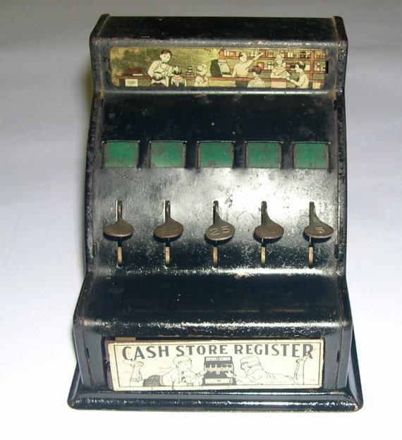 Vintage Toy Cash Store Register