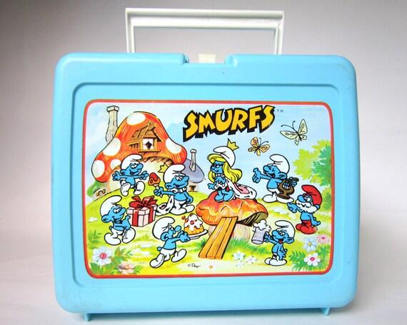 Vintage 1980s Smurf Lunch Box featuring Smurfette, Lunchbox