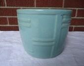 Vintage green vase or planter