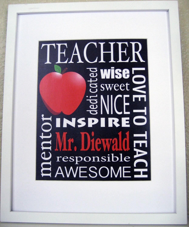Personalized Teacher Gift / The Original / Custom Wall Art