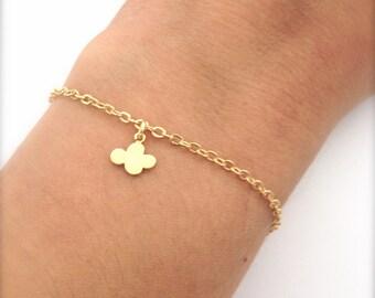 Tiny Cloud Bracelet, Dainty everyday jewelry, Gold chain bracelet, Gift for her under 15 USD - Little Girl bracelet
