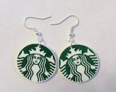 Starbucks Logo Earrings