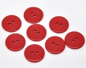 50 Round Plastic Buttons Two Hole 23mm Red - 50 Pack PB46