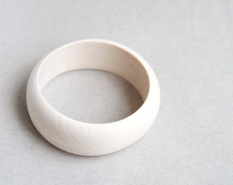 25 mm Wooden bangle unfinished round - natural eco friendly A25