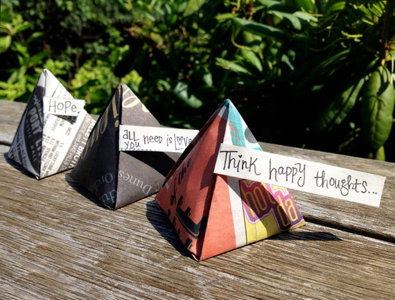SET of Fortune Fire Starters - Newsprint - add Flare to a Firepit, Woodstove, Fireplace, or Campground Fire