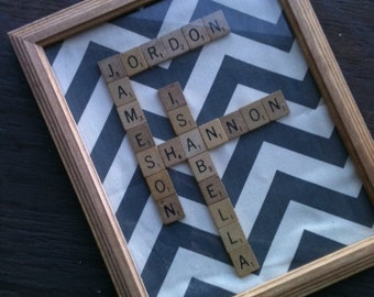 Scrabble Letters Wall Hanging
