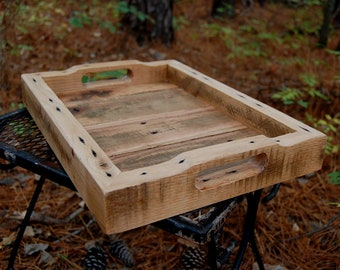 Serving Tray/ Small/ Vanity Tray/ Wooden Tray/ Reclaim Wood