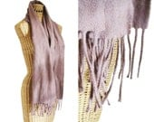 1950s merino wool scarf lavender brown champagne shawl by craigmill lambswool made in scotland unisex scarf