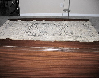 Vintage Tapestry Table Runner 51 Inches x 18 Inches