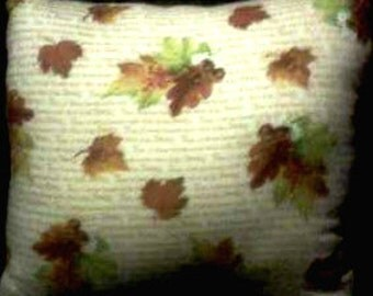 Hand Crafted Give Thanks Harvest  Print Pillow