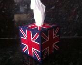 VINTAGE STYLE Union Jack Tissue Box Cover RETRO