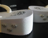 White wedge flip flop - beads engraved Love, Kindness, Joy, Gentleness, Self control, Peace.