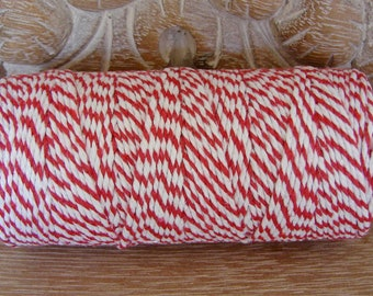 Baker's Twine - Red and White -  Full 100 Yard Spool
