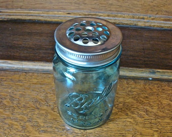 Handmade Mason Jar Shaker Lid - Perfect for Parmesan Cheese
