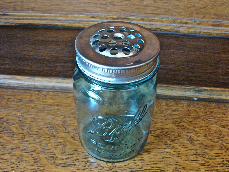 handmade mason jar shaker lid perfect for parmesan cheese. Black Bedroom Furniture Sets. Home Design Ideas