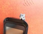 Ear Cap  Tiny Cat - Anti-Dust Plug Ear Cap 3.5mm for iPhone iPod.