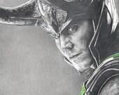 Drawing of Loki (Tom Hiddleston) from Marvel's Avengers