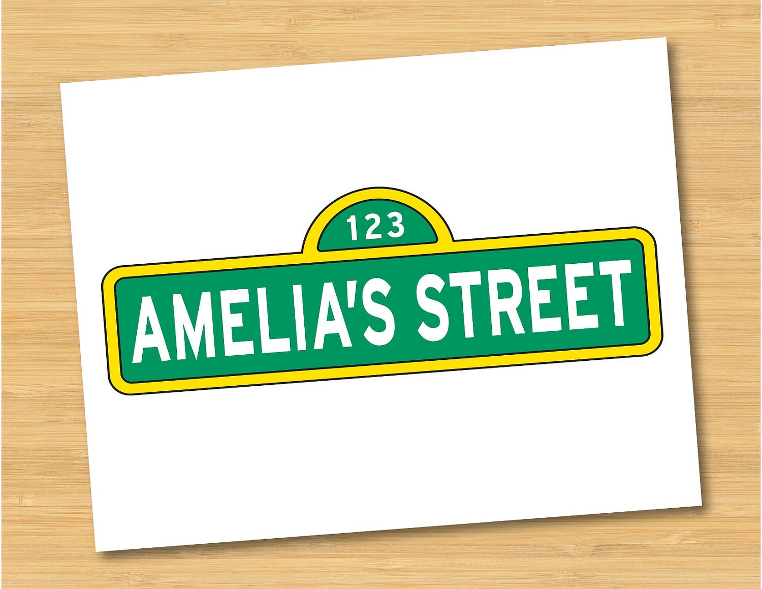 Sesame street name sign logo personalized printable birthday zoom pronofoot35fo Choice Image