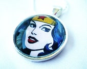 Wonder Woman Superhero Pendant