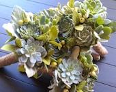 Succulent Bridesmaid Bouquet,Succulent Wedding Bouquet, Rustic bouquet, Spring wedding bouquet, Alternative Bouquet,Fall Bouquet