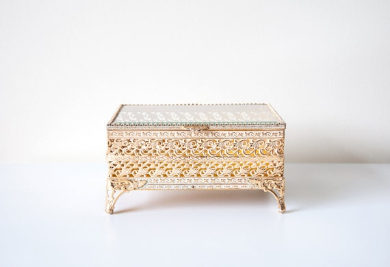 Vintage Gold Jewelry Box