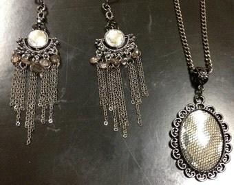 Black Chandilier Jewelry Set