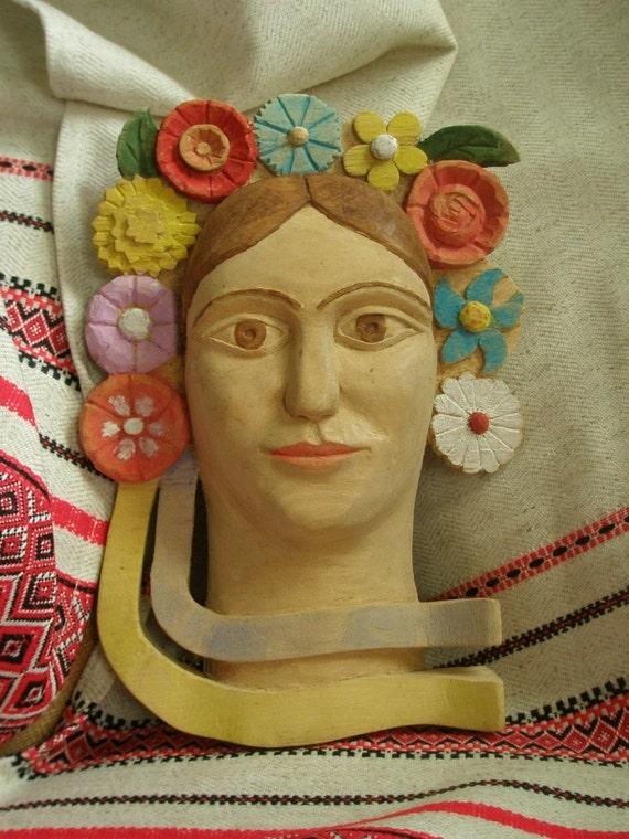 Natalka Poltavka - Mask Handcrafted Ukraine Wooden