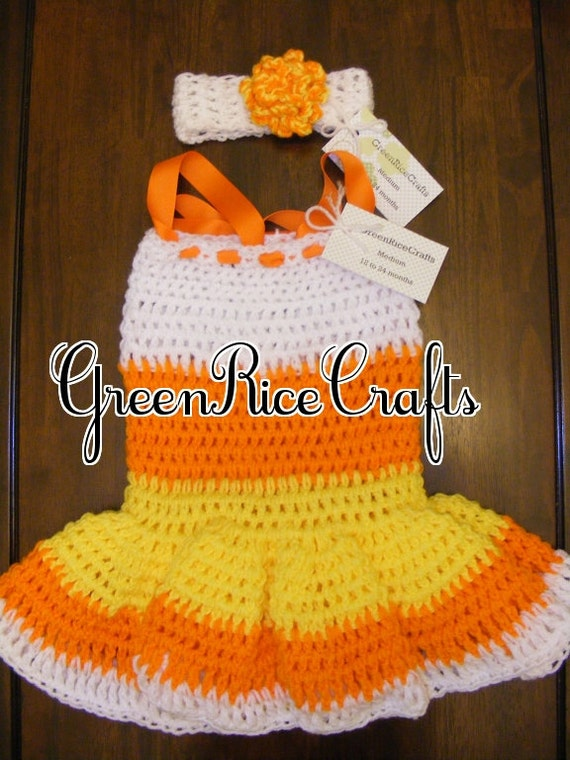 """HALLOWEEN """"Little Boo"""" NB through 5T Princess Candy Corn Costume for Baby/ Toddler Girl"""