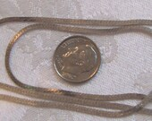Price Reduced - Sterling Silver Italian Herring Bone Chain, 29.5 inches