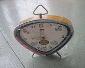 Vintage Style Reproduction Mechanical Alarm Clock  - Fossil Brand - Works