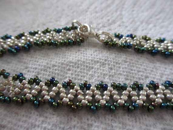 Blue Iris and Silver Anklet