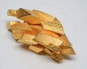 """Gold """"fool's gold"""" mineral 3D printed stainless steel that is gold plated. Part of my imaginary rock/mineral/gem collection"""