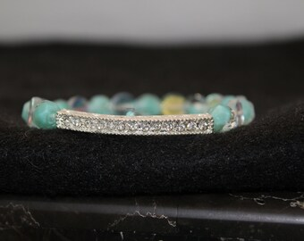 Rhinestone Beaded Elastic bracelet