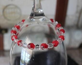 Czech 2 Tone Crystal Bracelet