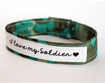 Custom Military Support Bracelet - Army, Air Force, Navy, Soldier Wife, Girlfriend, Fiance