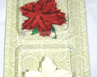24 Piece Manila Poinsettia Christmas Paper Blossoms by Making Memories