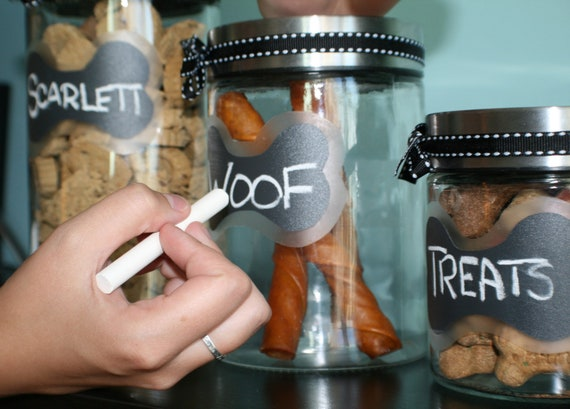 Pet Treat Jar - Chalkboard Bone Design - 1000ml