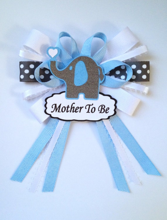 items similar to mother to be ribbon corsage pin on etsy