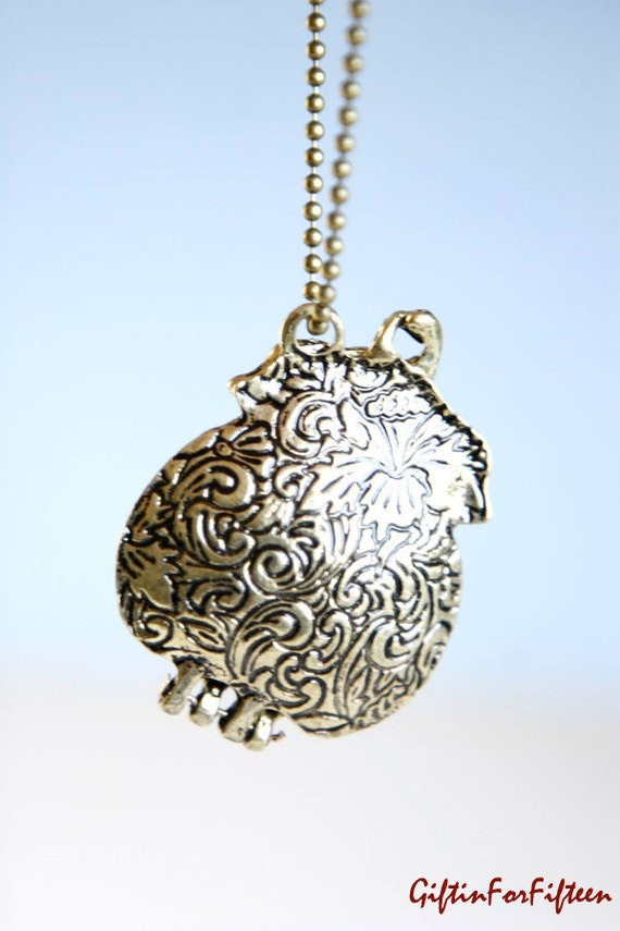 Purseful - Vintage Style Cute Purse Locket Necklace Antique Bronze Plated Nerdy Jewelry OOAK by Giftin For Fifteen