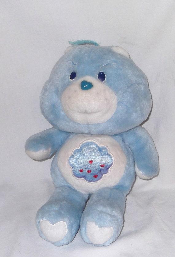 1983 Kenner Grumpy Care Bears Plush Stuffed Blue Clouds Bear Vintage