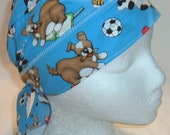 Chemotherapy Head Wrap - children's hat - The Dog Ate My Homework