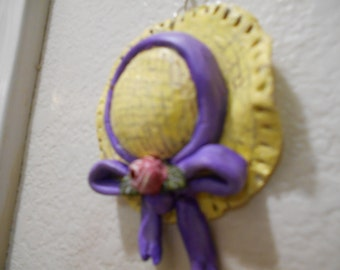 Paper Clay Ooak Straw Hat