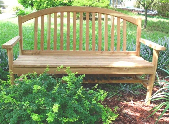 Handmade 5 foot Red Cedar Giverny Garden Bench