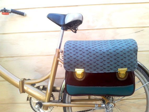 Bicycle Bag Horses, 100% vegan leather