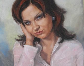 Portrait Painting. Custom portrait from photo. Hand painted portrait. Pastel portrait from your photography. Custom portraits. Family gifts